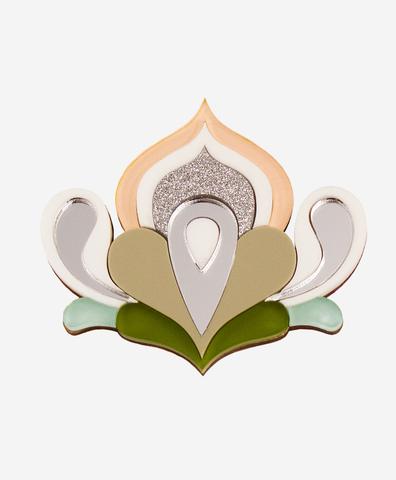 Брошь Lotus Green