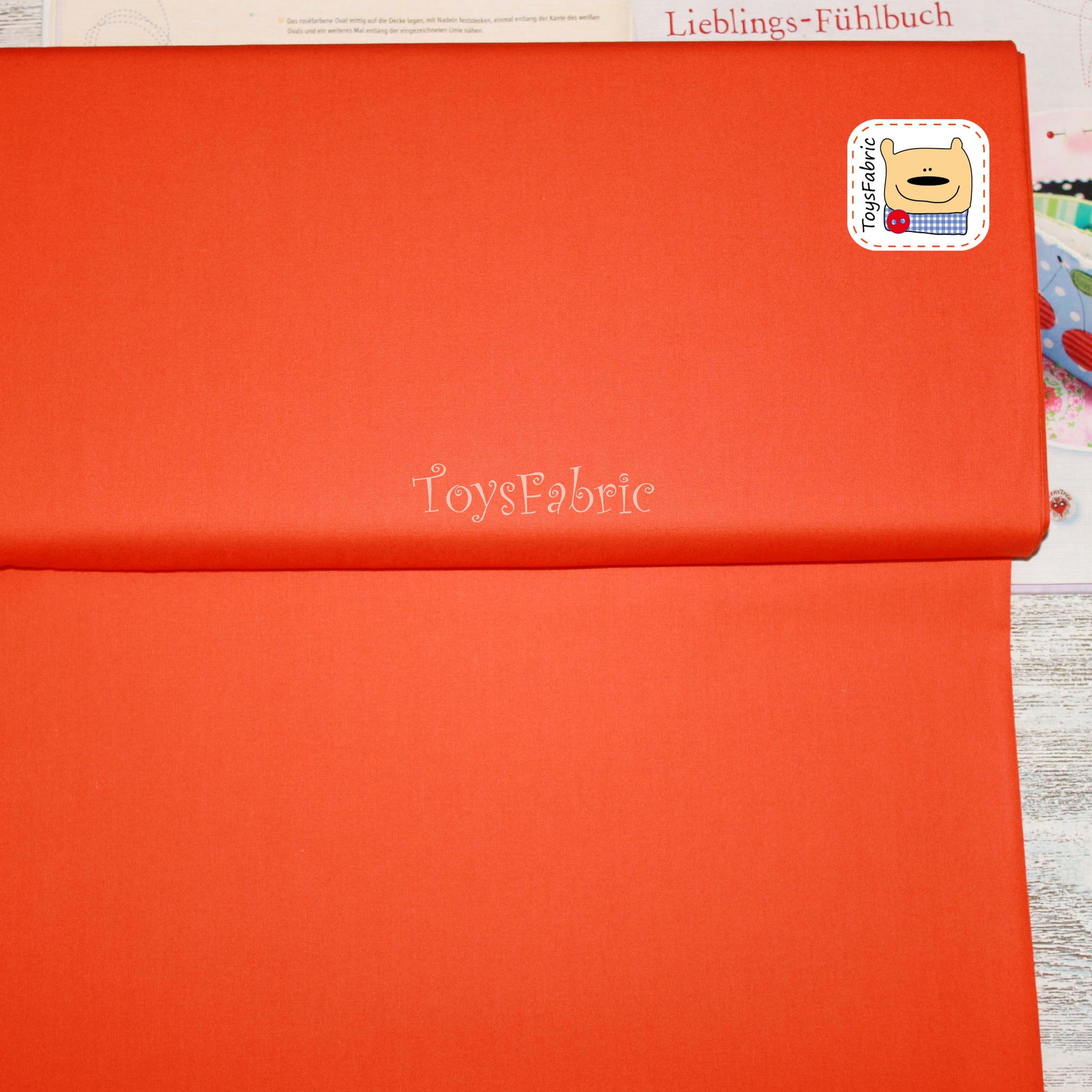 Ткань для пэчворка 20663 (однотонный оранжевый) 45х55см