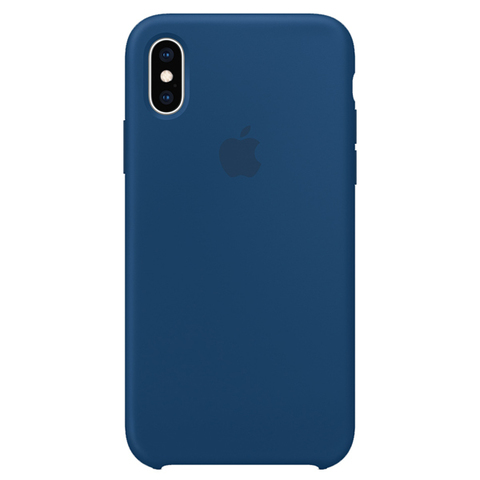 iPhone XS Max Silicone Case Blue Horizon