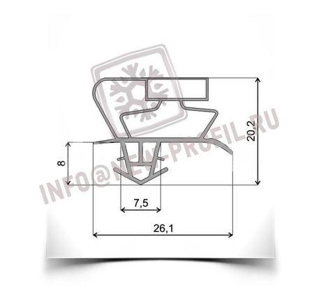 Уплотнитель по пазу для холодильника Beko холодильная камера)  Размер 111*55см Профиль 017(АНАЛОГ)
