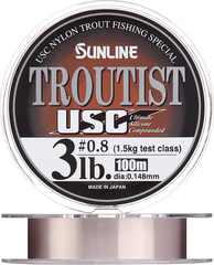 Леска Sunline TROUTIST USC 0.128 мм 1.0 кг 100 метров (Natural Brown)