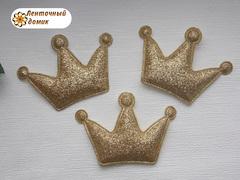 Мягкие декор корона золотая