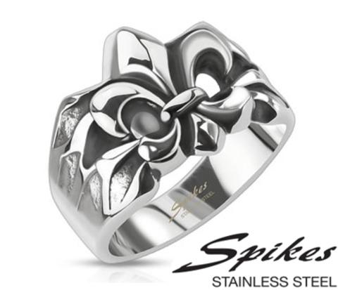 Мужской перстень «Spikes» с геральдический лилией