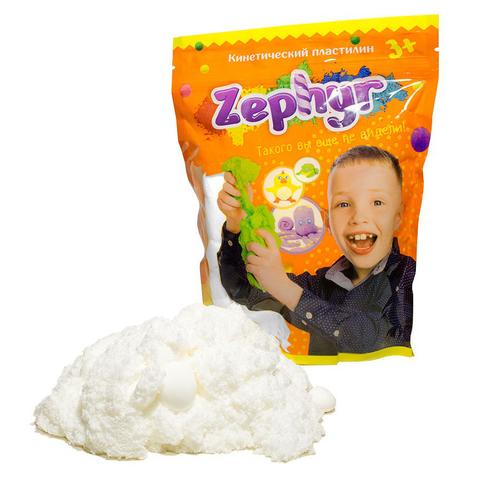 Кинетический пластилин Zephyr (Зефир) в дой-паке, белый 300 гр