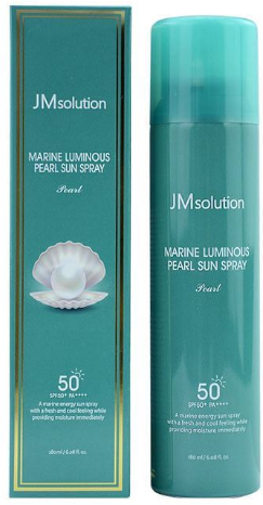 JMsolution Marine Luminous Pearl Sun Spray SPF50+ солнцезащитный спрей 180 мл