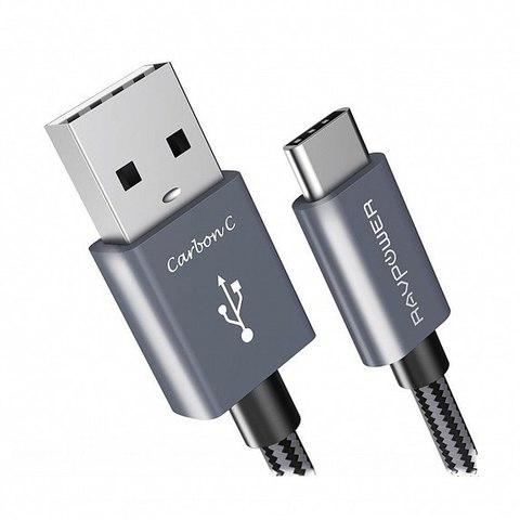 Кабель RAVPower USB C Cable 0.9 м Black (RP-CB017)