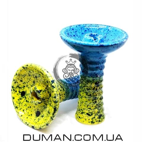 Чаша GrynBowls для кальяна |Phunnel Yellow-Blue