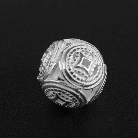 Бусина Азия 11,5 мм серебро 925