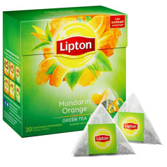 Чай Lipton Green Mandarine Orange зелен. пирамидки 20пак/пач
