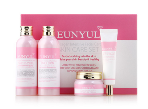 EUNYUL Collagen Intensive Facial Care 4 pcs Набор с коллагеном, EUNYUL