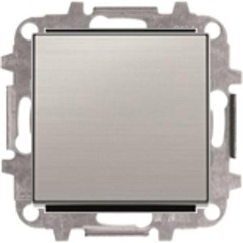 Переключатель промежуточный одноклавишный. Цвет Нержавеющая сталь. ABB Sky. 8102+2CLA850100A1401