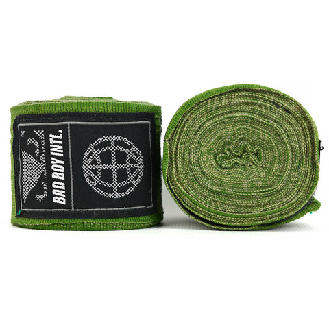 Бинты Bad Boy Combat Premium Hand Wraps Green 5m