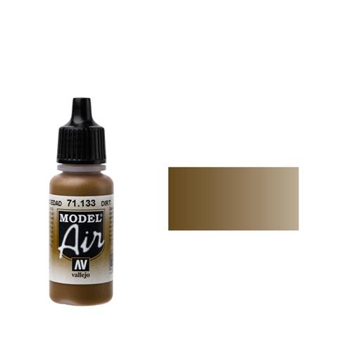 133 Краска Model Air Грязь (Dirt) укрывистый, 17 мл