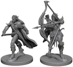 Pathfinder Deep Cuts Unpainted Miniatures - Elf Male Fighter