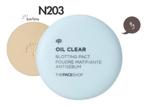 THE FACE SHOP Компактная пудра Oil Clear Smooth & Bright Pact SPF30 PA++ (9г)