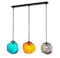 люстра Ice Cube Pendant Lamp in line ( 3 BULBS )