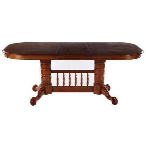 Стол обеденный 4296 STC прямоугольный раскладной деревянный дуб в красноту