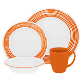 Набор посуды Brushed Orange 16 пр, артикул 1117024, производитель - Corelle