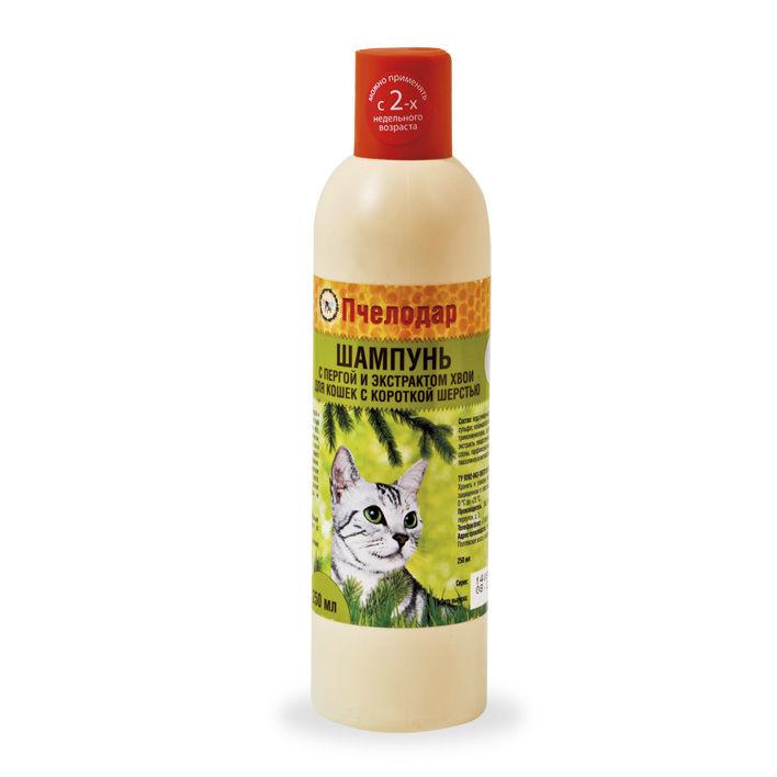 купить Пчелодар гигиенический шампунь с пергой и хвоей для короткошерстных кошек