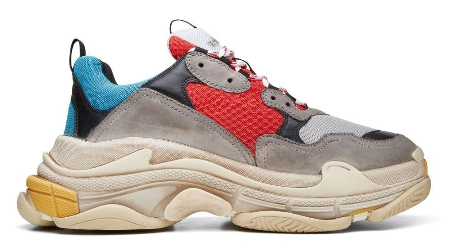 Balenciaga Triple S (Grey/Red/Blue) (001)