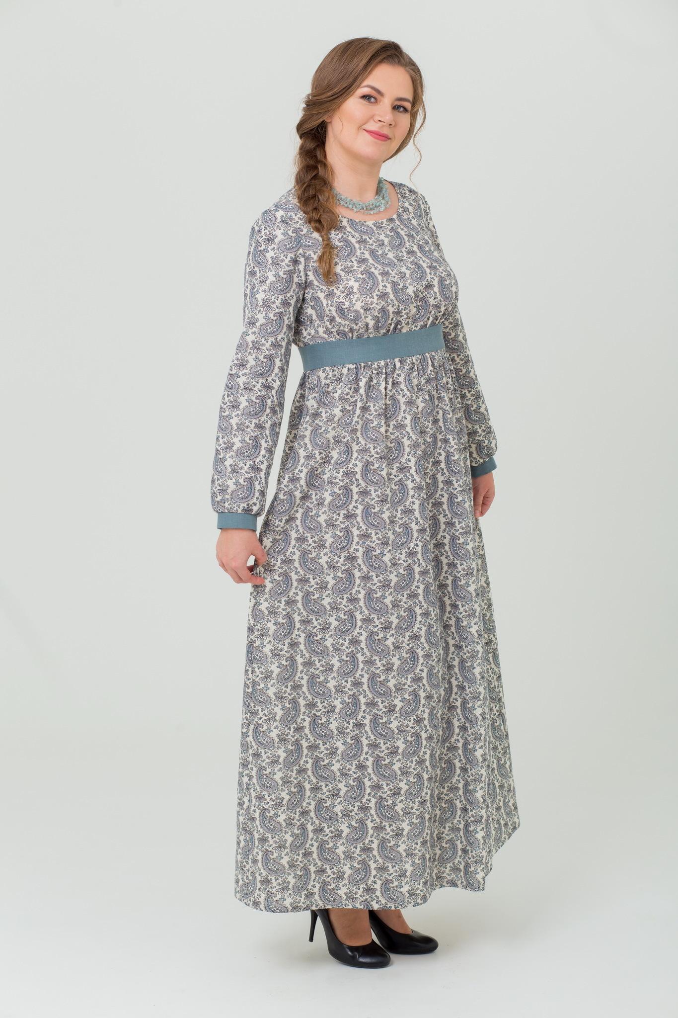 Платье льняное Славное в русском стиле