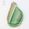 Подвеска Срез Агата (тониров), цвет - зеленый с полосками, 67-109 мм (№3 (71х46 мм)(ЦАРАПИНА))