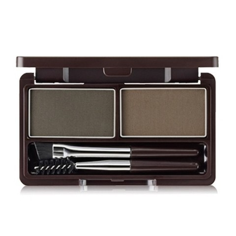 THE SAEM EYE Пудра для бровей 02 Eco Soul Eyebrow Kit 02 Gray Brown 2*2.5гр