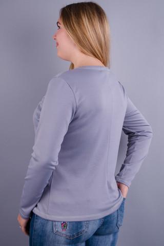 Сафіна. Гольф для жінок великих розмірів. Сірий.
