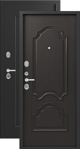 Дверь входная Легион L-6, 2 замка, 1,5 мм  металл, (чёрный шёлк+венге)
