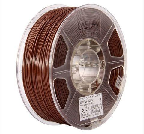 Катушка PLA-Пластика ESUN 1.75 Мм 1кг., Коричневый (PLA175C1)