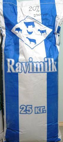 Заменитель цельного молока для телят, поросят, ягнят с 7 дней Равимилк 20%, стандарт