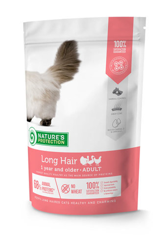 Long hair Adult food for cats