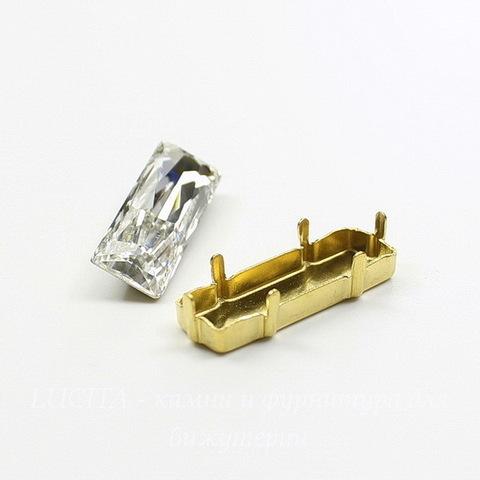 4547/S Сеттинг - основа для страза 24х8 мм (цвет - латунь)