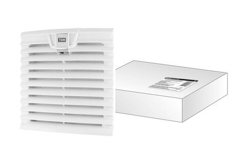 Вентиляционная решетка с фильтром для вентилятора ВФУ SQ0832-0112 (204 мм) TDM