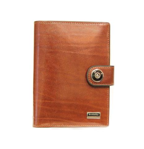 Стильная солидная рыжая мужская обложка для автодокументов и паспорта из натуральной качественной итальянской гладкой кожи с отделениями для карт 027-DC9-17B