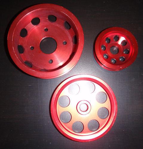 На предыдущую страницу Комплект облегченных шкивов Nissan GTR BNR32 RB26DETT RB20 / RB25 (Underdrive!) cam pulley