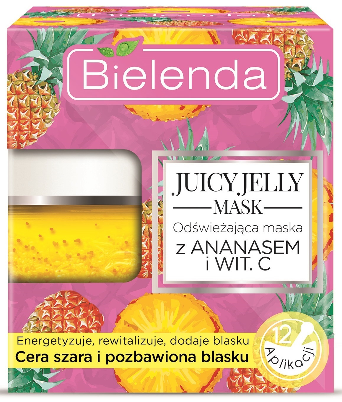 JUICY JELLY АНАНАС+ВИТАМИН С Освежающая маска, 50 г