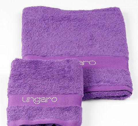 Набор полотенец 2 шт Emanuel Ungaro Perle фиолетовый