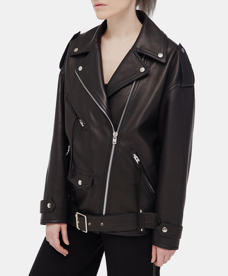 Кожаная куртка Oversized Leather Jacket