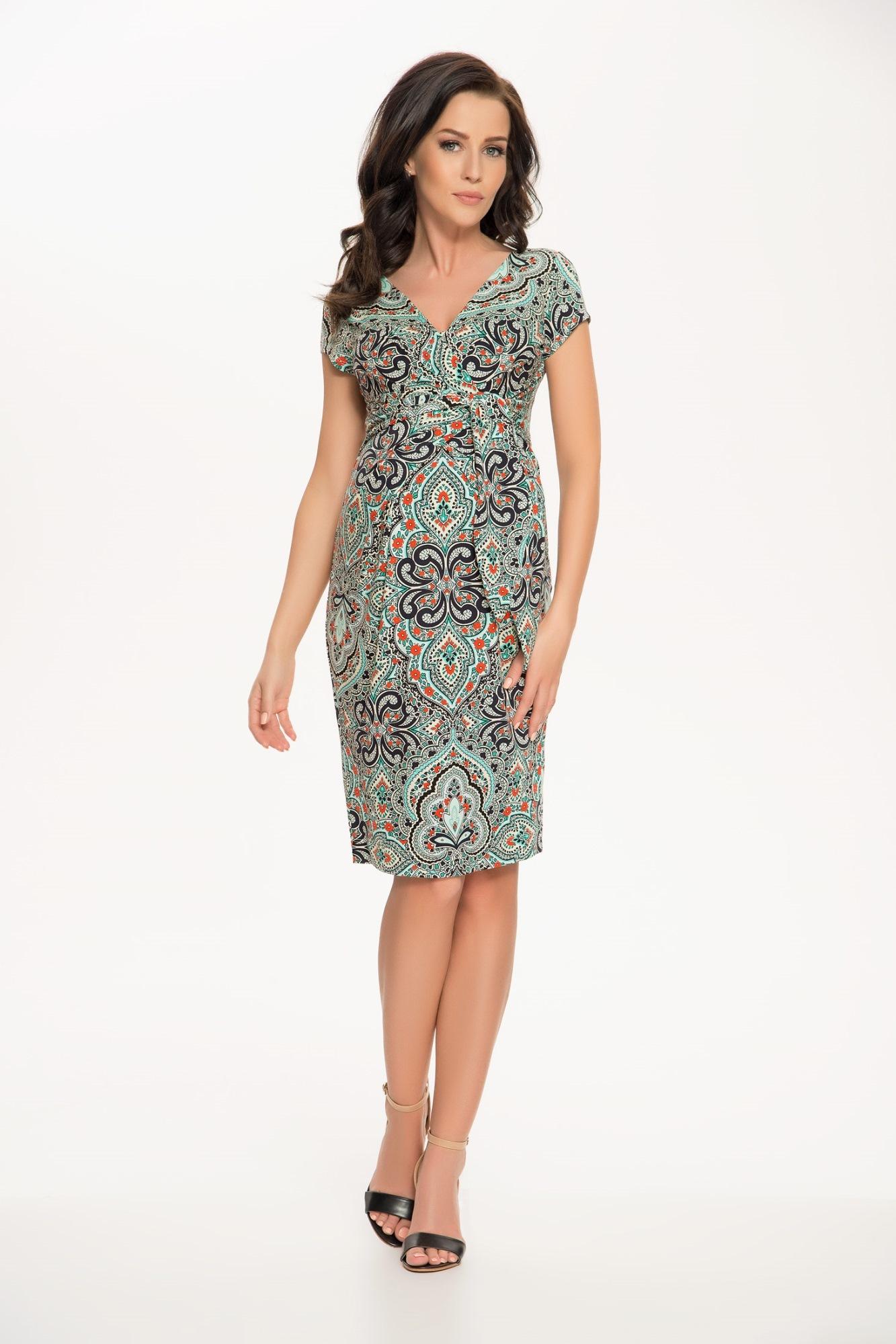 Платье 05383 бирюза