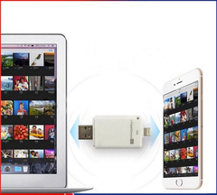 Флешка для Iphone/Ipad со сменной микро SD картой (SD карта в комплект не входит)