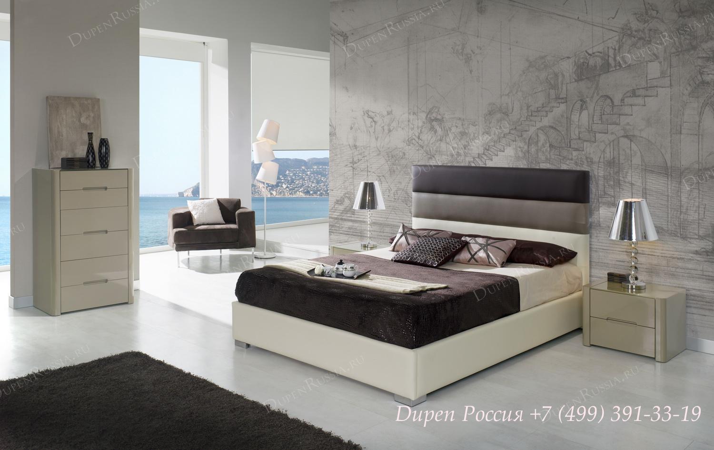 Кровать Dupen (Дюпен) 690 DESIRE, комод DUPEN S-110 Мока, тумбочка М-110 Мока