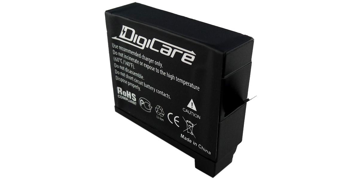 Литий-ионный аккумулятор DigiCare вид сбоку