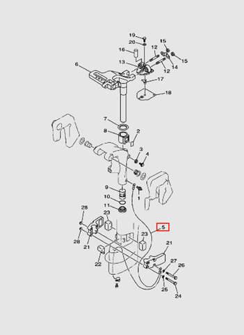 Трос  для лодочного мотора T15, OTH 9,9 SEA-PRO (14-5)