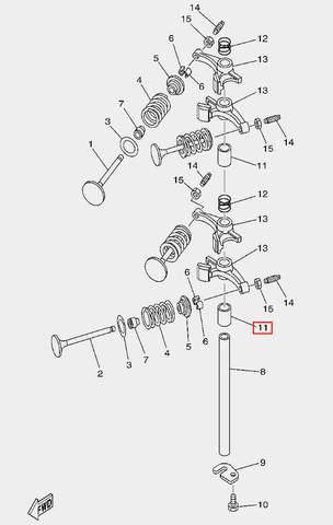 Втулка вала рокера для лодочного мотора F20 Sea-PRO (5-11)