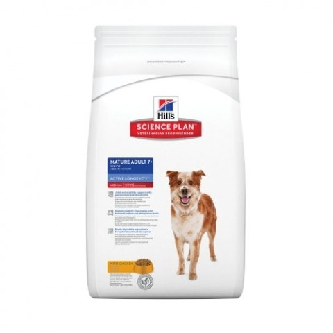 Корм для собак Hill's (12 кг) Science Plan Canine Mature Adult 7+ Active Longevity Medium with Chicken