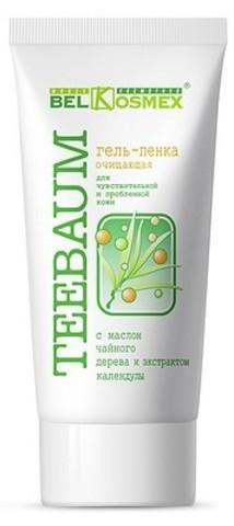 BelKosmex Teebaum Гель-пенка очищающая для чувствительной и проблемной кожи 80г