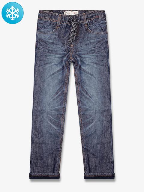 BJN005057 джинсы для мальчиков утепленые, дарк