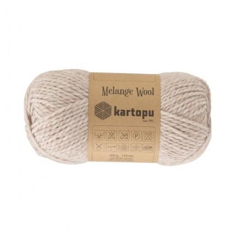 Пряжа Kartopu Melange Wool арт. 890 светло-бежевый