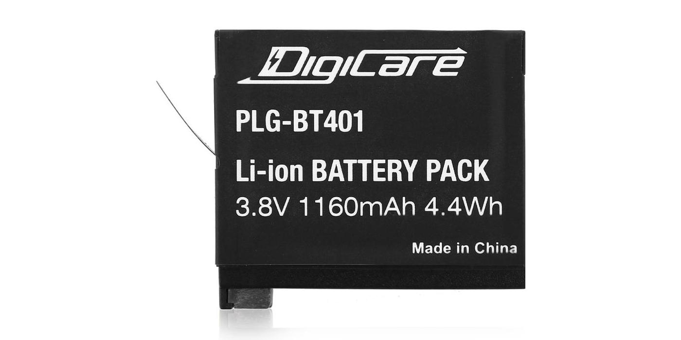 Литий-ионный аккумулятор DigiCare вид сверху